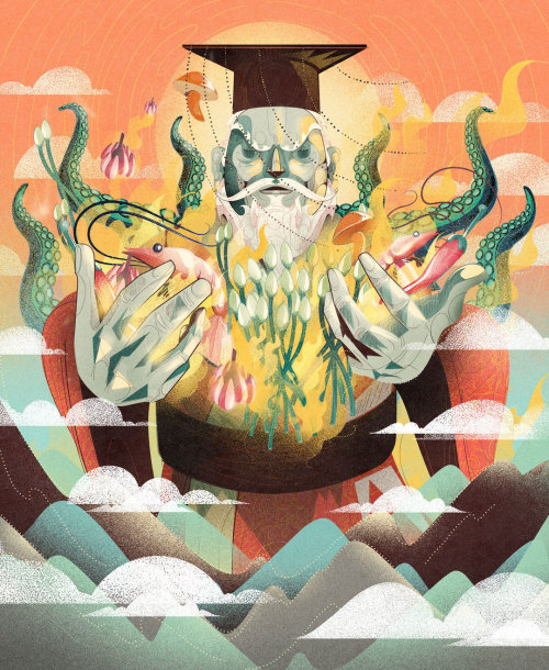 conceptual art of sea god