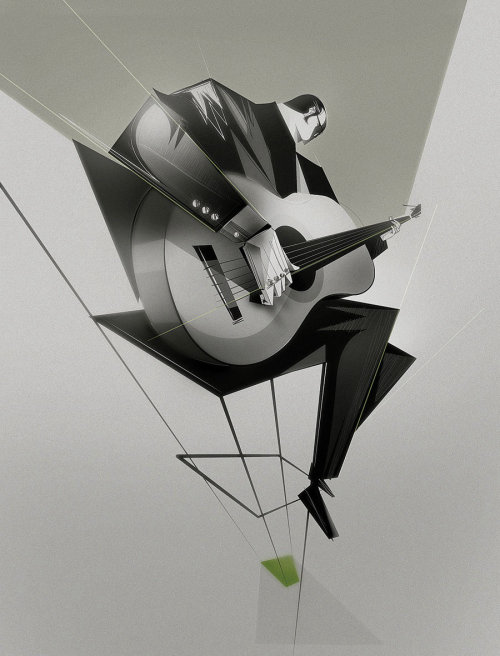 Black and white Brazilian Bossa Nova Graphic