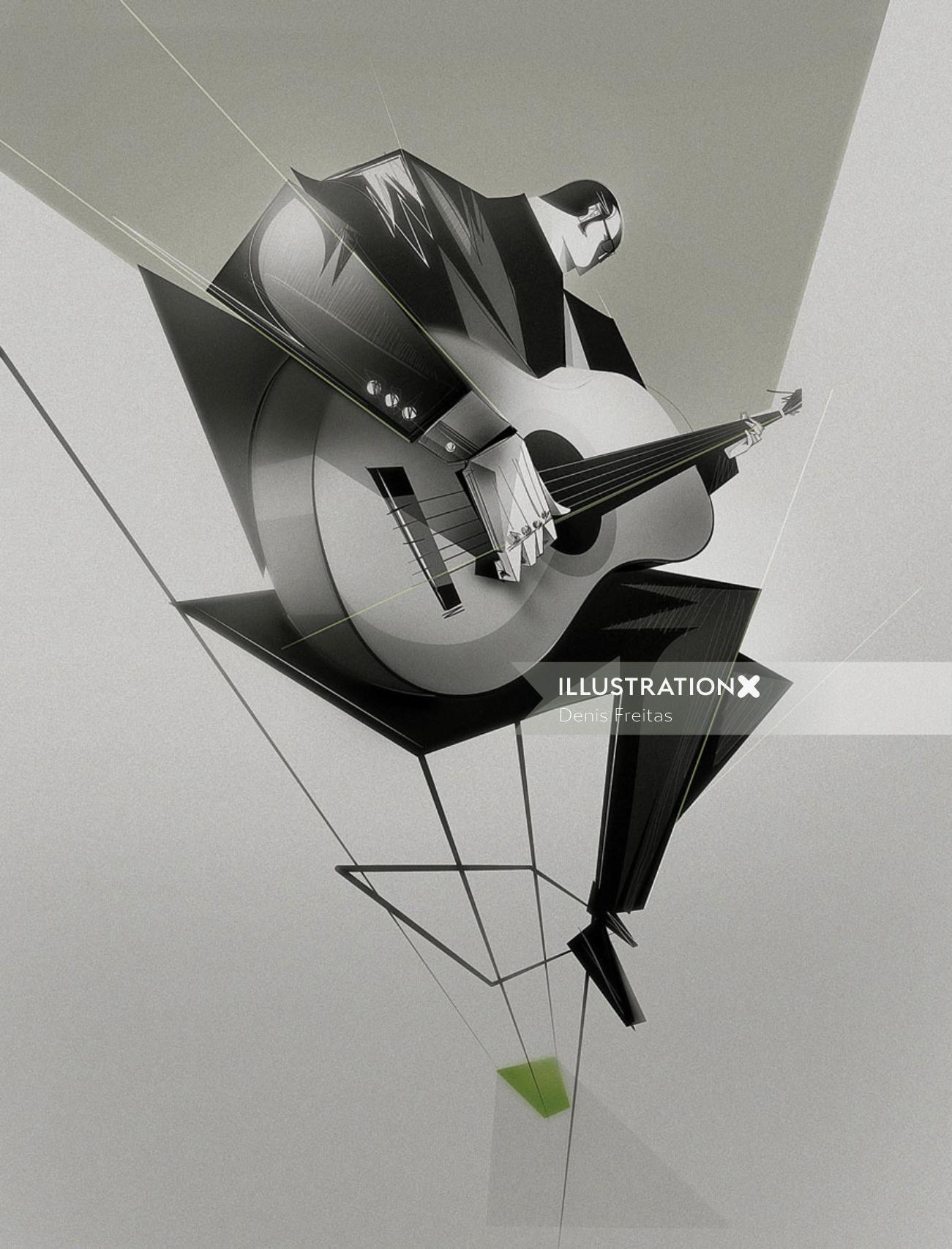 Black and white Brazilian Bossa Nova Graphic