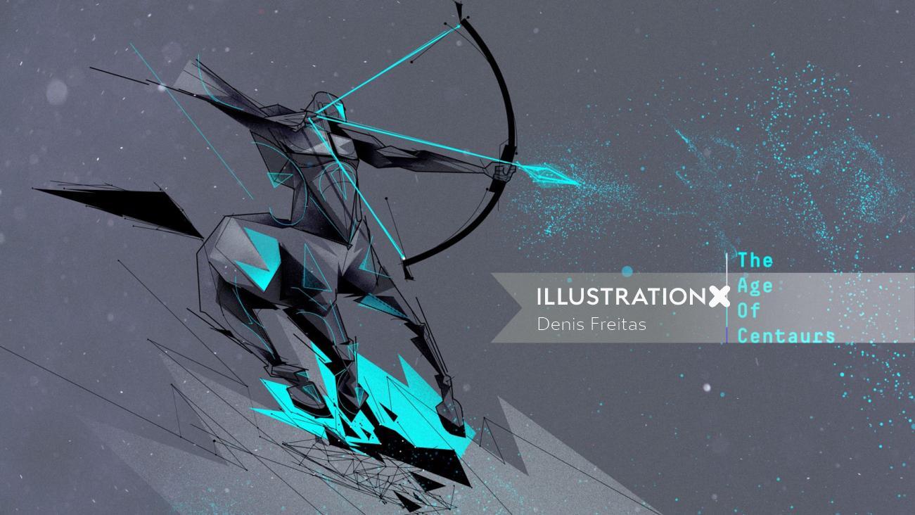age of centaurs graphic design