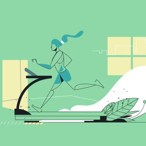 running on treadmill to live well