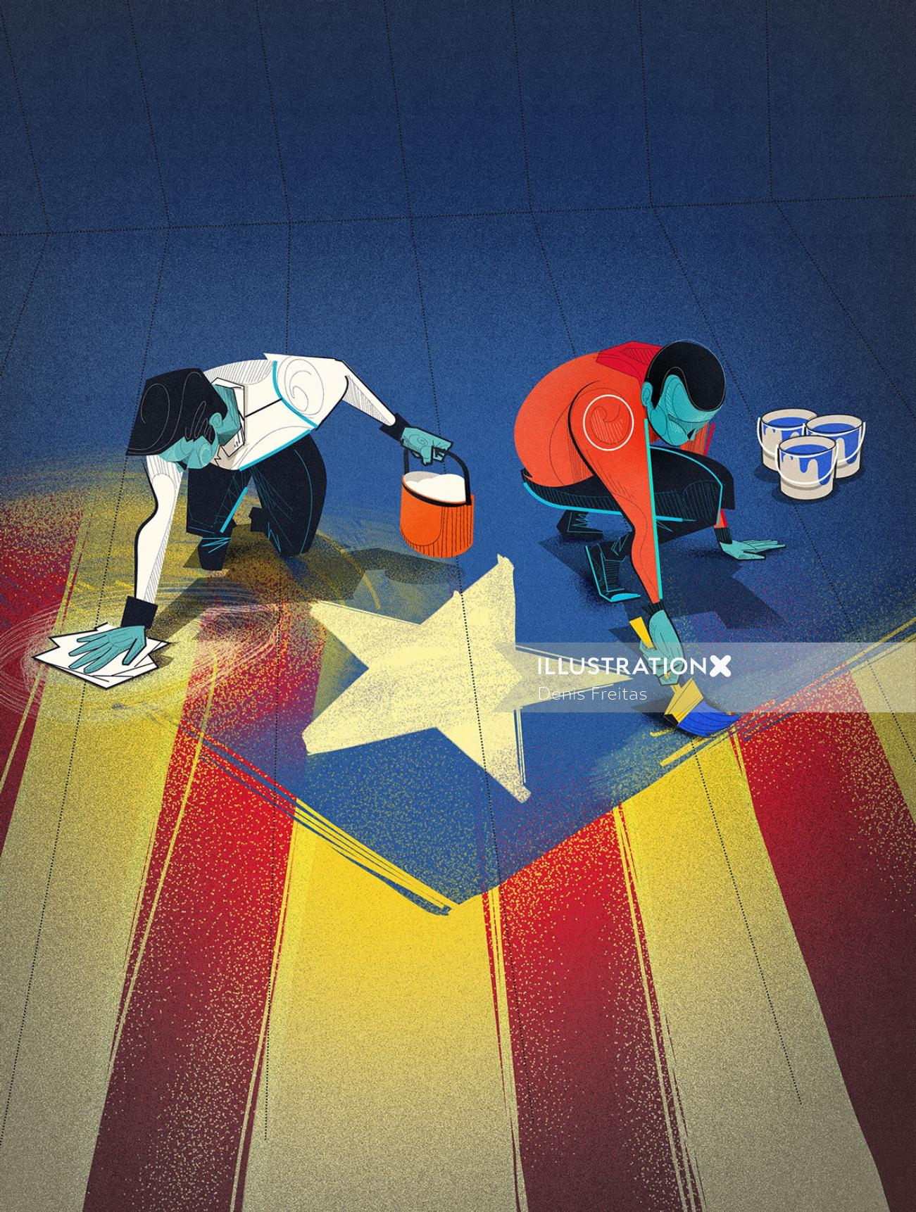 catalonia's independence process illustration