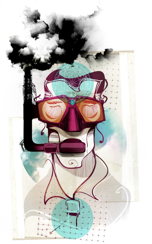 Illustration graphique de la pollution
