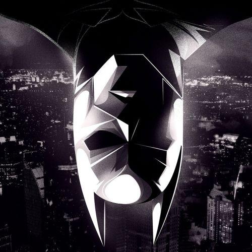 Graphic illustration of Batman