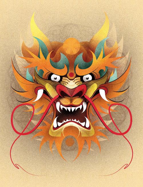 Illustration graphique du lion fougueux