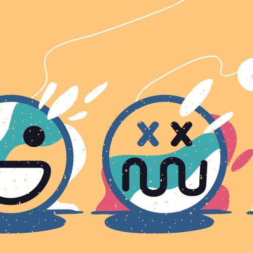 different moods through smileys