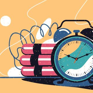 illustration of a time bomb