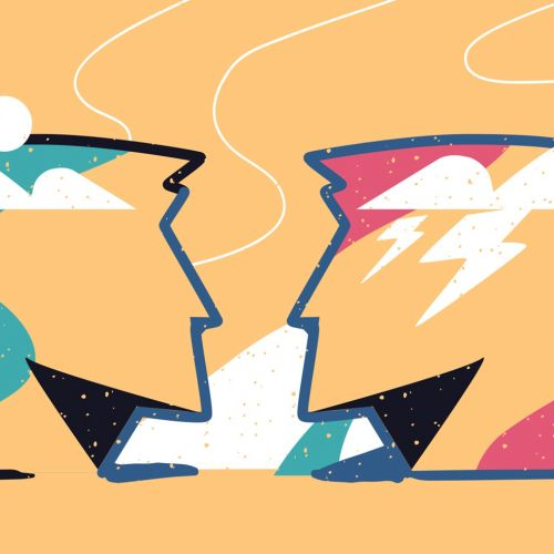 calm and stormy minds in graphic design