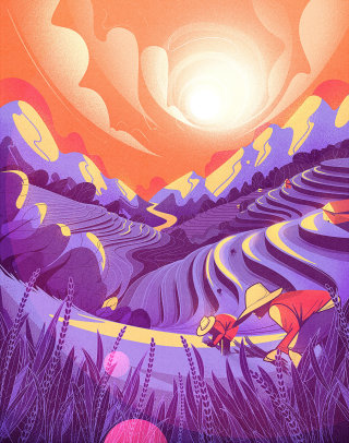 artwork showing step farming