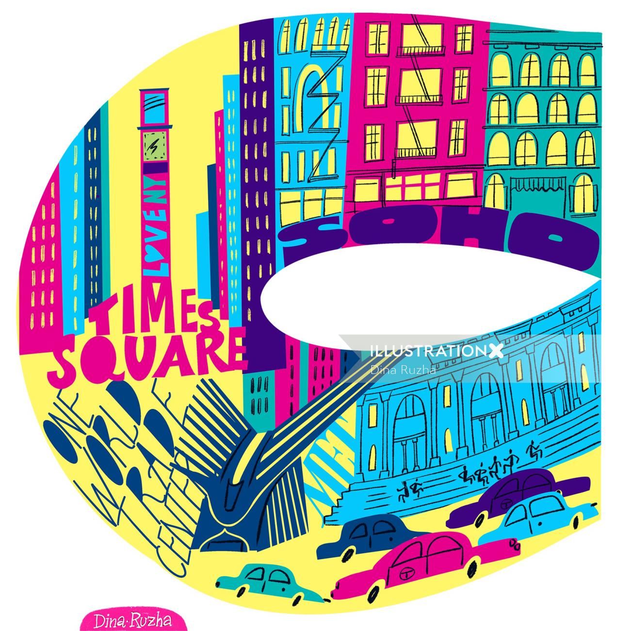 Series of Illustrations NYC