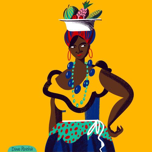 Retrato da mulher cubana
