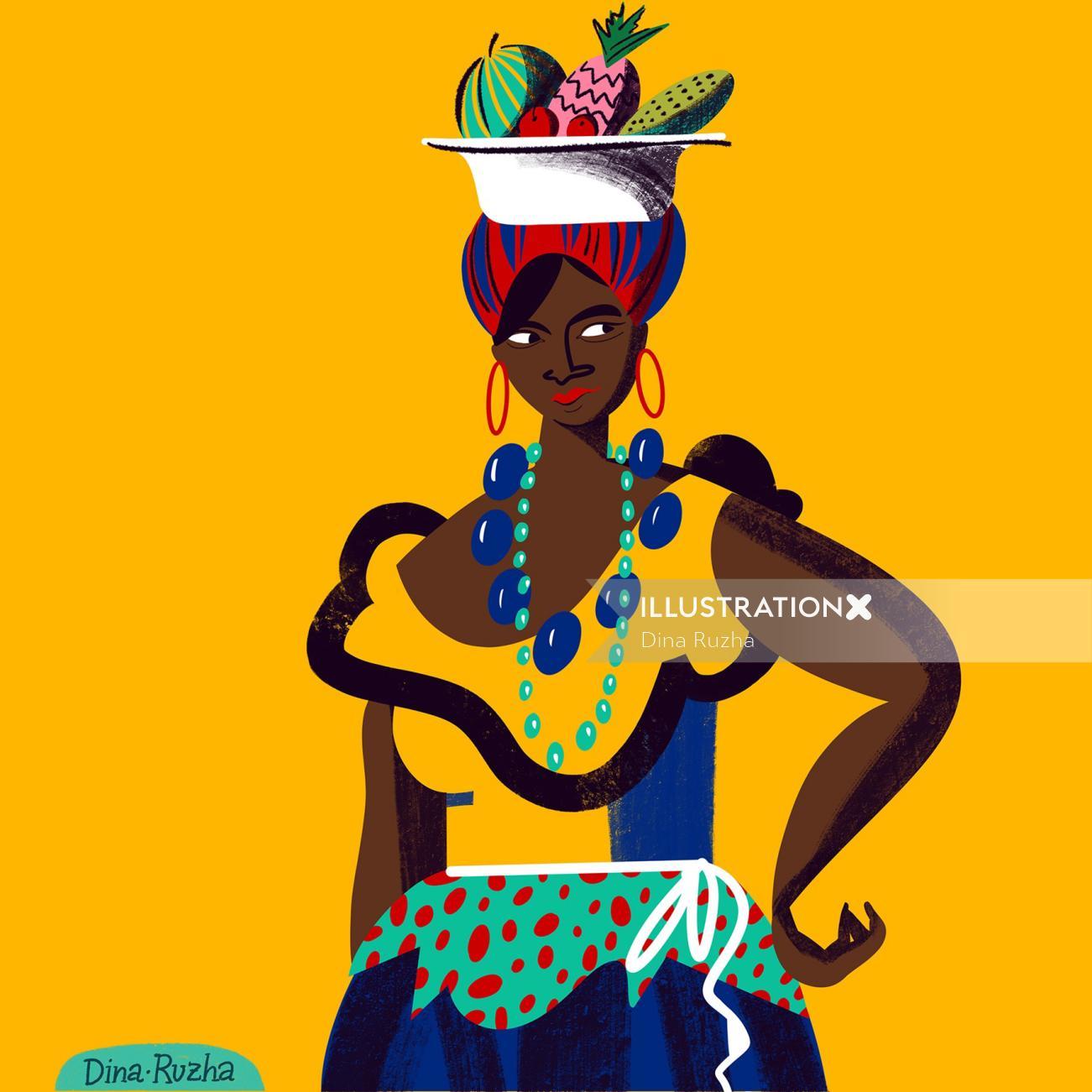 Portrait of the cuban woman