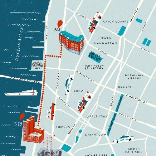 Dina Ruzha Maps Illustrator from United States
