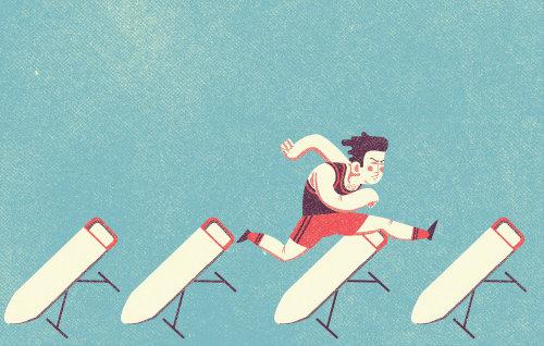 Illustration éditoriale du coureur de saut en hauteur