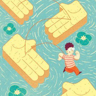 Bulleting magazine cover illustration
