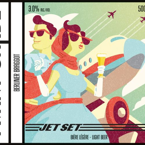 Jet Set Beer Label