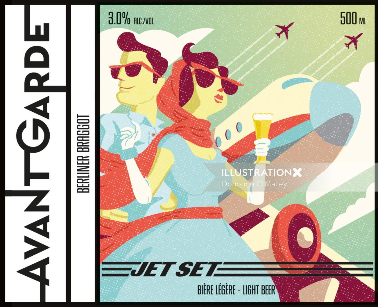 Jet Set Beer Label