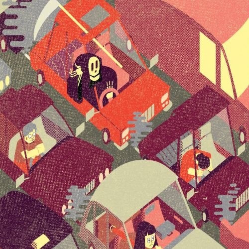 Conceptual illustration of Is your commute killing you?
