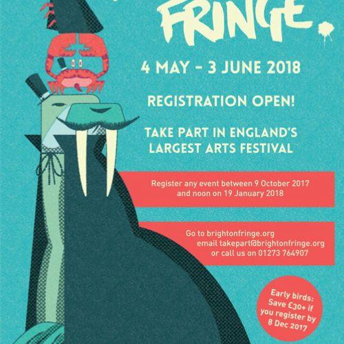 Marketing material for Brighton Fringe