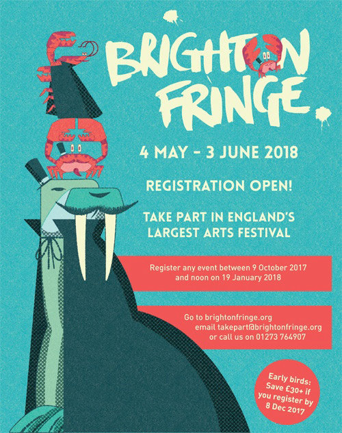 Material de marketing para Brighton Fringe