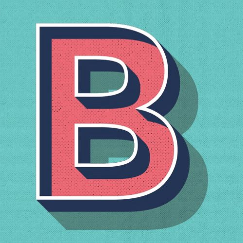 B is for bowler typographic gif animation