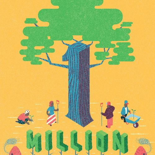 Congratulations Illustration for llustrationltd on planting over 1 million trees