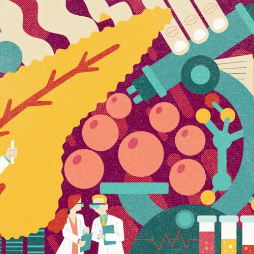 Corona vaccine research illustration for the Pharmaceutical Journal