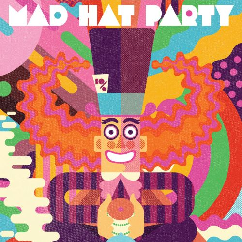 The Mad Hatter's Mad Hat Party poster design