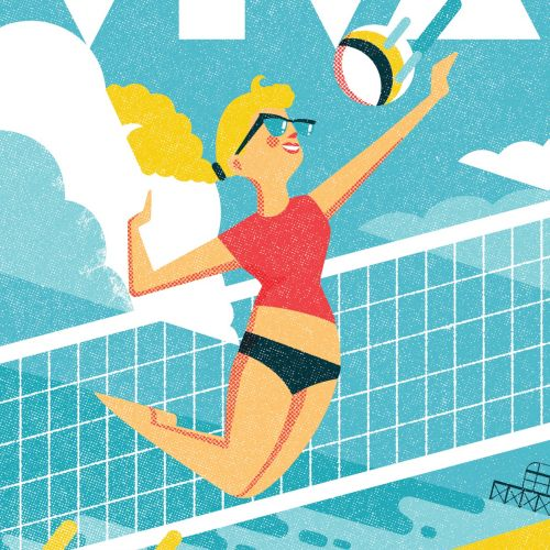 Cover illustration for Viva Brighton magazine