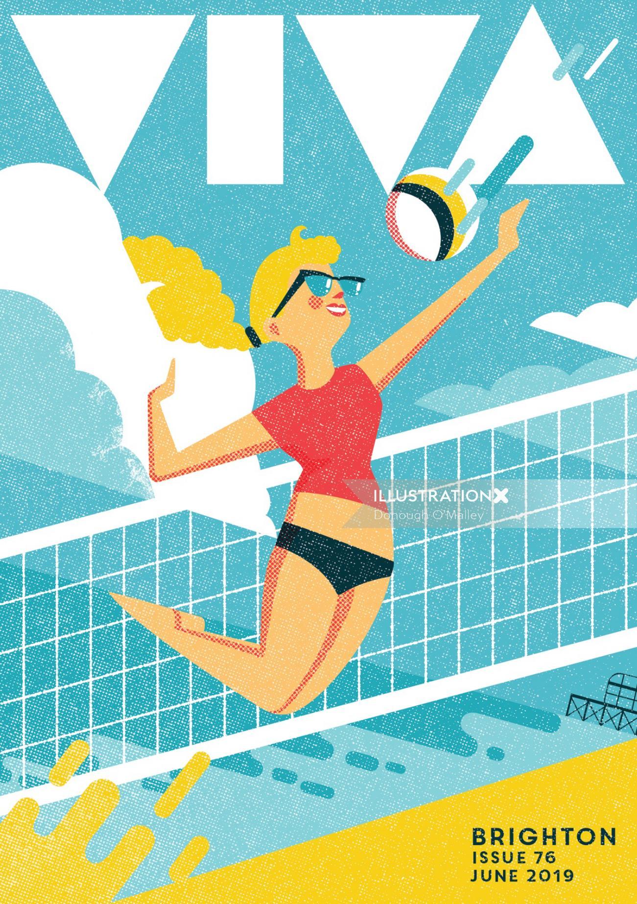 Cover illustration for Viva Brighton magazine