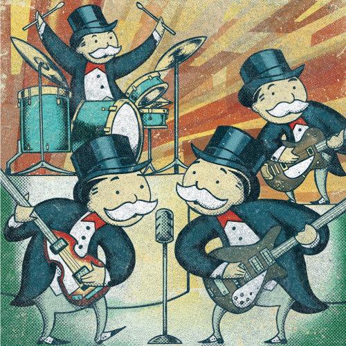 Groupe de musique de personnes âgées