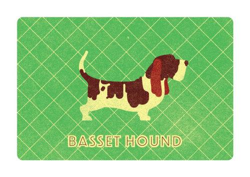 Carte de voeux Basset Hound