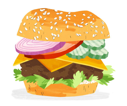 Cheeseburger graphic design