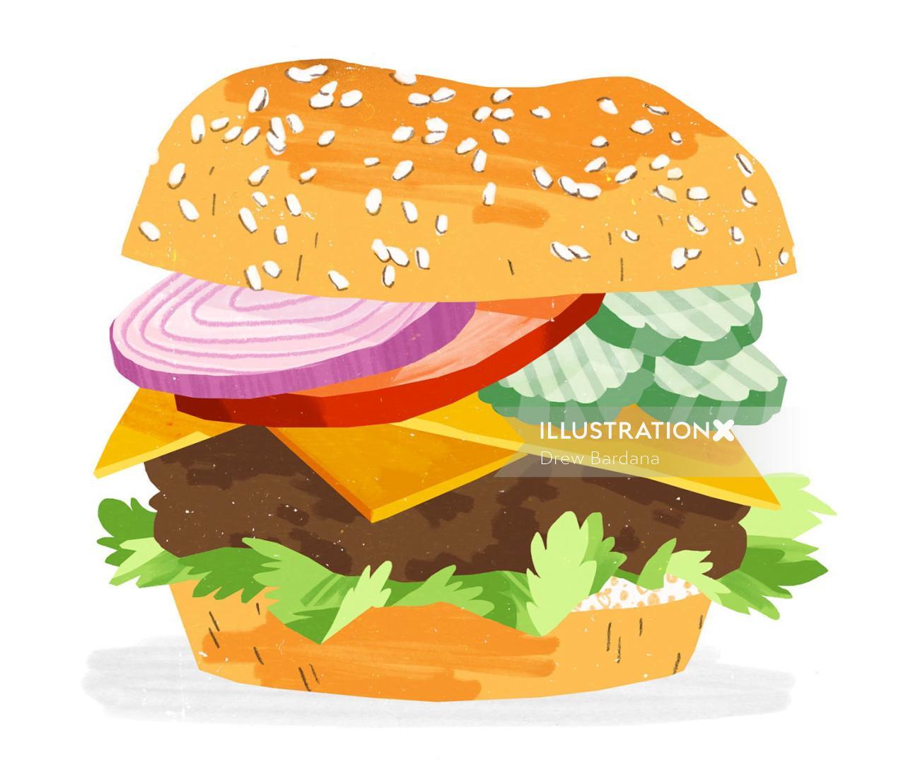 Cheeseburger graphic design