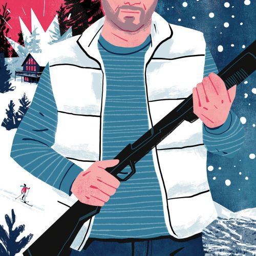 Illustration for Back Country Magazine on the history of Breckenridge