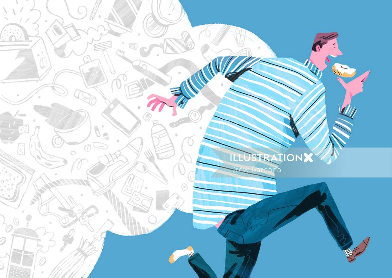 Lifestyle illustration of Morning Routine