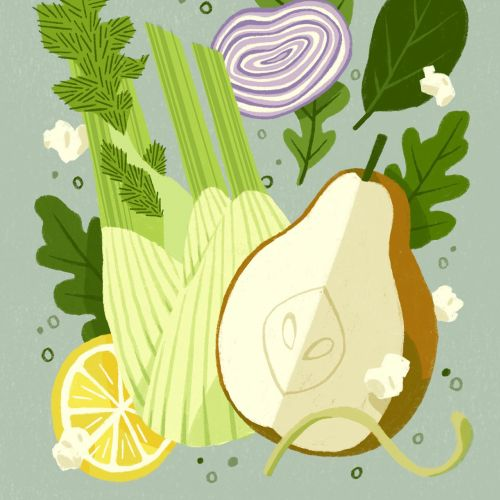 Food illustration of Pear Fennel Salad