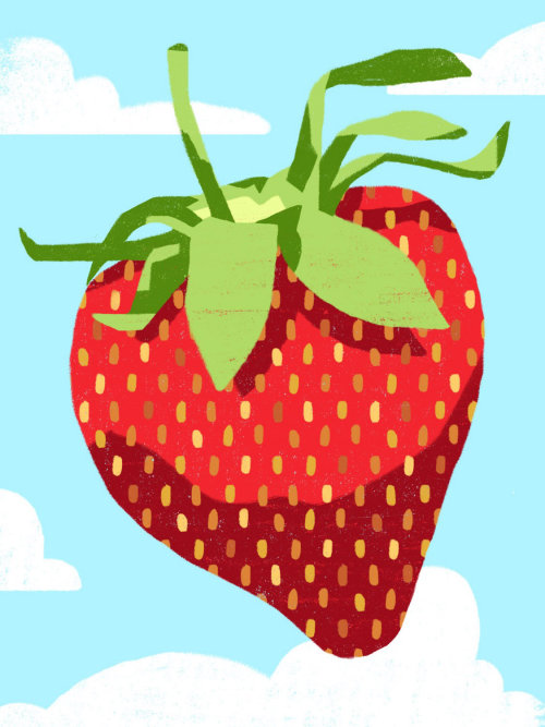 Food illustration of strawberry