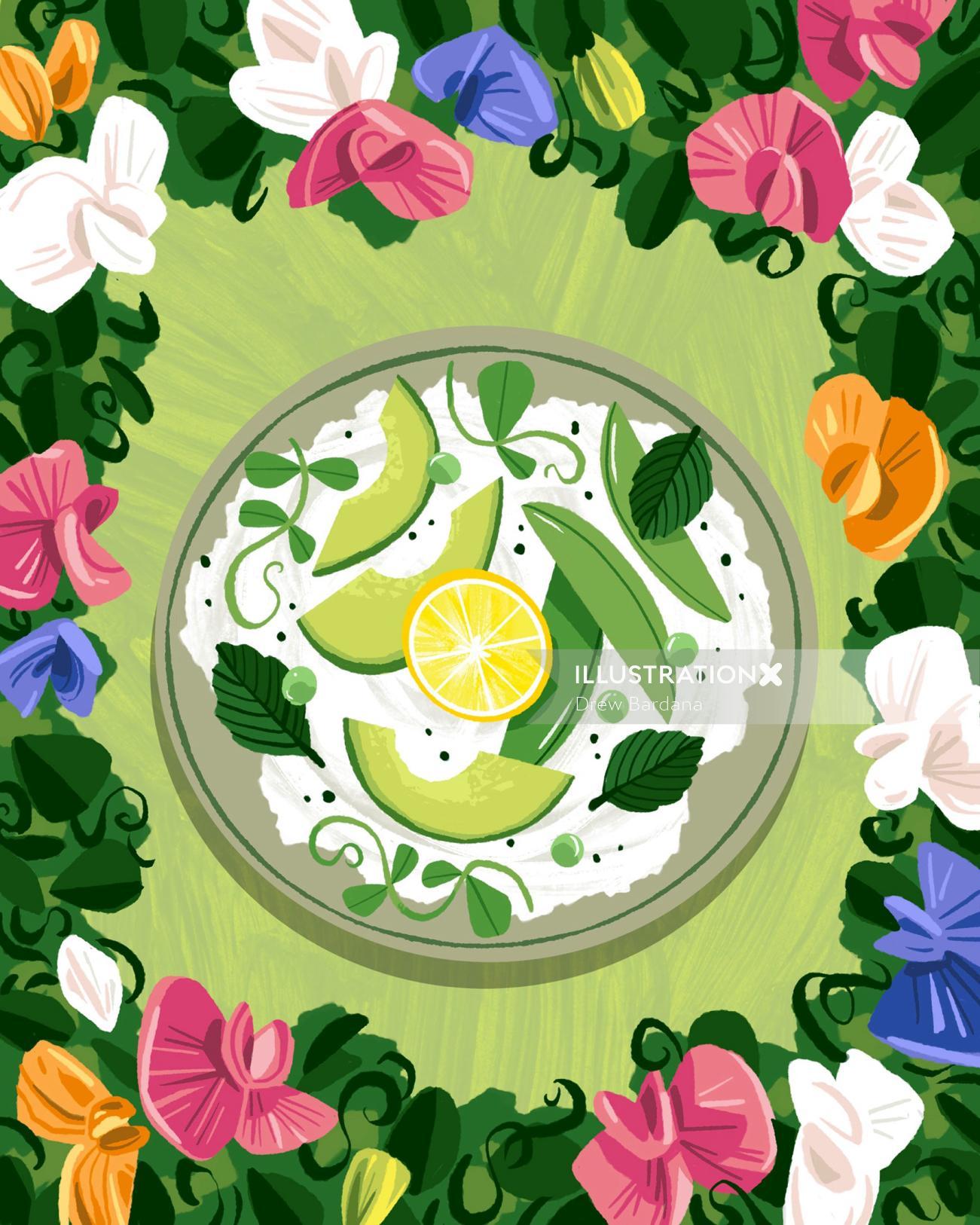 Recipe illustration California Avocados