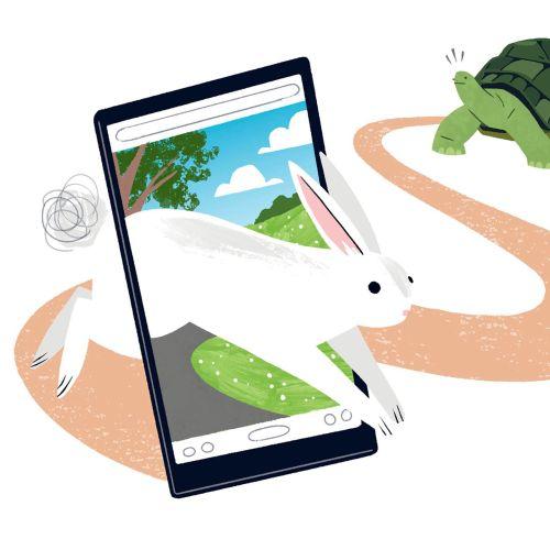 Digital hare and tortoise