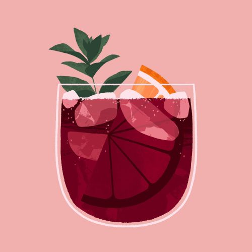 Wine spritz, cocktail recipe