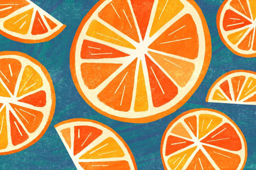 Line and colour orange illustration