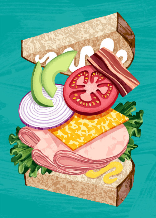 Hand drawn burger illustration