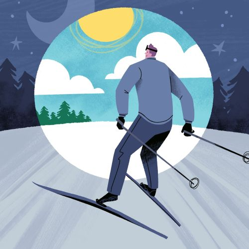 Digital Ode to Night Skiing