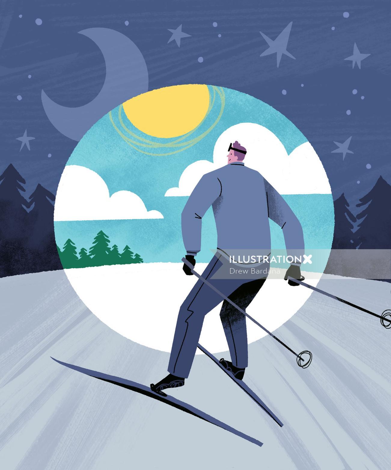 Digital Ode to Night Skiing