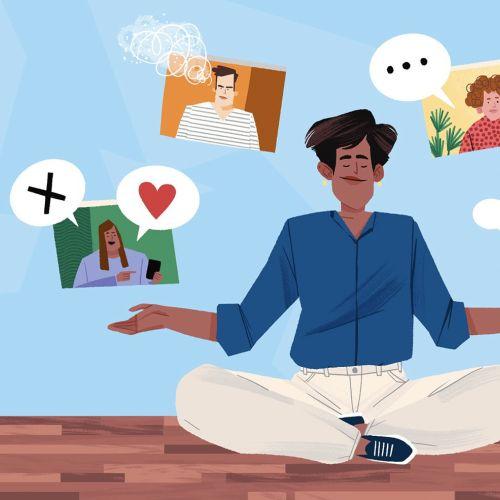 Health Man meditating
