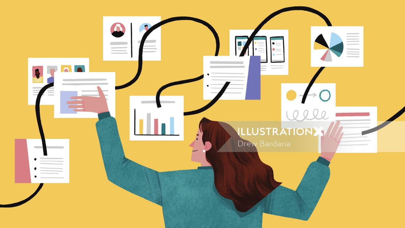 Business presentation of woman