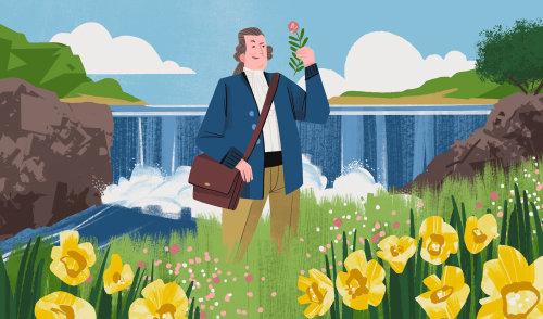 Peter Kalm explorando as plantas da América do Norte