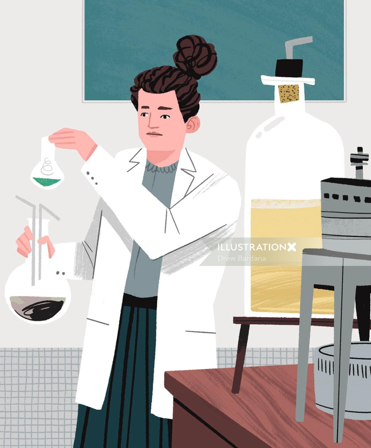 Marie Curie in the Lab