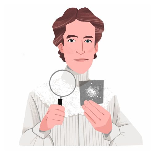 Henrietta Swan Leavitt Studying Galaxies